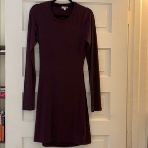 Wilfred Free burgundy dress with back cut-out